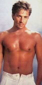 Don Johnson.....OMG...I cut this out of a magazine stashed it in my school notebook so that I could fantasize between classes.  Mmm mmmm mmmmmm.