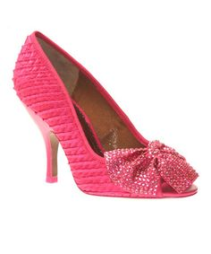 Take a look at this Pink Spectacle Peep-Toe Pump by Poetic Licence on #zulily today!