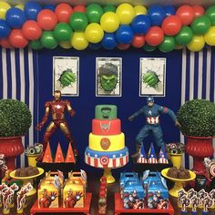 70 powerful ideas and step by step to make yours - Birthday FM : Home of Birtday Inspirations, Wishes, DIY, Music & Ideas Hulk Birthday, Avengers Birthday, Superhero Birthday Party, Avengers Party Decorations, Birthday Party Decorations, Birthday Themes For Boys, 6th Birthday Parties, Hulk Party, Diy