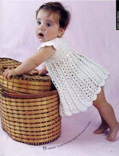 White Dress free crochet graph pattern.