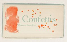 DIY: faire des confettis sur photoshop, faire-part