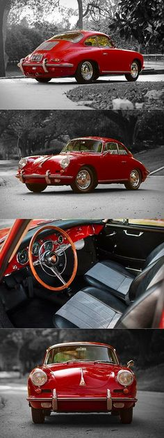 1962 porsche 356 carrera 2 310 produced 2 red germany 17 368 a man s corner Carros Porsche, Porsche Autos, Porsche Cars, Porsche Logo, Porsche 2017, Porsche Panamera, Classic Sports Cars, Classic Cars, Porsche Classic