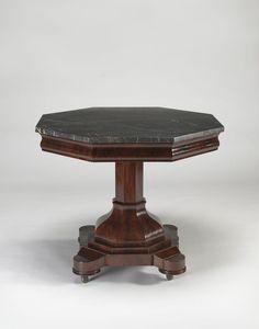 VMFA American Mahogany Center Table 1850 By Thomas Day