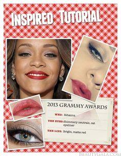 Rihanna's 2013 Grammy Awards Makeup