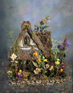 1:12 Scale Beloved Fairy Dollhouse Wind's End Cottage. $2,500.00, via Etsy.