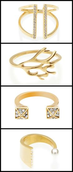 Four fantastic gold-plated rings from Benique. Perfect for stacking, or making a smaller statement worn solo.