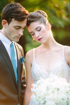Berry lips and pink cheeks: http://www.stylemepretty.com/washington-dc-weddings/2015/10/20/modern-mint-white-garden-wedding-inspiration/   Photography: Kelsey Thompson - http://kthompsonphotography.com/
