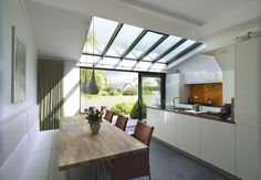 The Most Popular Ideas Making Low Ceilings - walmartbytes Conservatory Kitchen, Red Roof House, Pavillion, Glass Pavilion, Open Plan Kitchen Living Room, Small Room Bedroom, House Extensions, Interior Design Kitchen, Home Kitchens