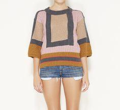 Missoni Pink, Tan, And Grey Sweater