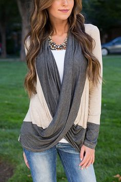 Fashion Crossed Front Ribbed Top -YOINS