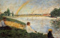 Bathing at Asnieres - Rainbow, one of the most famous Georges Seurat paintings.