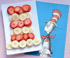 Cat in the hat fruit tray