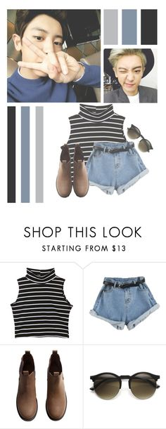 """""""Park Chanyeol"""" by lilian95 ❤ liked on Polyvore featuring H&M, kpop, EXO, exok, chanyeol and parkchanyeol"""