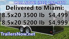 Cargo Trailers Miami FL, 8.5x20 Trailers - Miami Cargo Trailers For Sale