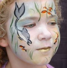 Under the Sea face painting design -  web site gives step-by-step guide--   www.parteaz.co.uk