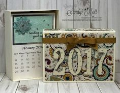 Stampin' Up! - Calendar created by Sandy Mott. Photos of each month on my blog.