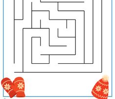 Free  printable maze for kids activity!