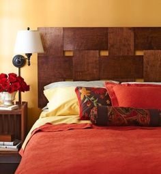 Looking for DIY Headboard Ideas? There are many low-cost methods to produce a special one-of-a-kind headboard. We share a couple of dazzling DIY headboard ideas, to influence you to design your room chic or rustic, whichever you favor. Budget Bedroom, Home Bedroom, Bedroom Decor, Bedroom Ideas, Master Bedrooms, Wall Decor, Make Your Own Headboard, Headboard Designs, Headboard Ideas