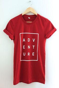 Adventure Red Graphic Unisex Tee