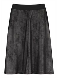 Imitation leather skirt. Sandwich collection Winter 2014.