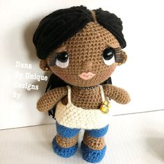 Best Friends Collection .. Dana Crochet Doll by UniqueDesignsbyZee