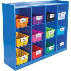 Really Good Classroom Cubby With Rainbow Baskets
