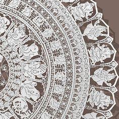 KIRTI C KHATRI 'Ganesha', detail. Paper cutting art