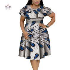 New Bazin Riche African Ruffles Collar Dresses for Women Dashiki Print Pearls Dresses Vestidos Women African Clothing African Dresses Plus Size, Short African Dresses, Latest African Fashion Dresses, African Print Dresses, African Print Fashion, African Dress Designs, Ankara Fashion, Africa Fashion, African Prints