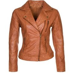 5c0263907b4 Cigno Nero STEFANIE Leather jacket cognac Casual Winter Outfits, Brown  Jacket, Wardrobe Closet,