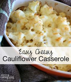 Cheesy Cauliflower Recipes on Pinterest | Dinner Sides, Mashed ...