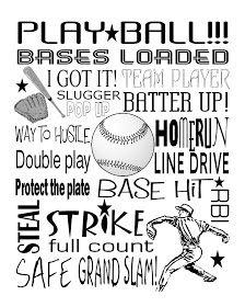 Baseball subway art printable        Baseball Red 8x10 PDF     Baseball Blue PDF     Baseball Black PDF   Dedicated to my son Declan <3    ...