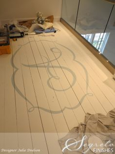 I'm doing this for my girls!!! love the monogram painted on the floors by Secrets of Segreto - Segreto Secrets Blog - What Segreto Did This Week - Part II