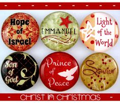 Christ-centered magnets / keeping the reason in the season-- visiting teaching gift??