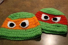 Ninja Turtles crochet kid's hat. Teenage mutant ninja turtles hats crochet with your choice of color!