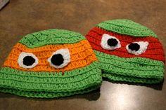 Ninja turtles crochet hat!