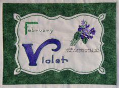 Celebrating Flowers Block of the Month - February Violets