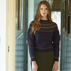 Ravelry: Raven Fairisle Yoke pattern by Marie Wallin Knit Stranded, Rowan Yarn, Icelandic Sweaters, 4 Ply Yarn, Tweed Skirt, Hand Knitted Sweaters, Fair Isle Knitting, Capsule Wardrobe, Knitting Patterns