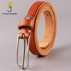 f90e197a2b78 Find More Belts   Cummerbunds Information about FAJARINA Design Quality  Ladies 100% Cow Skin Leather