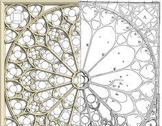 Gothic Rose Window Tracery on Behance Architecture Concept Drawings, Gothic Architecture, Geometry Art, Sacred Geometry, Gothic Windows, Rose Window, Islamic Patterns, Mandala Art, Celtic Mandala
