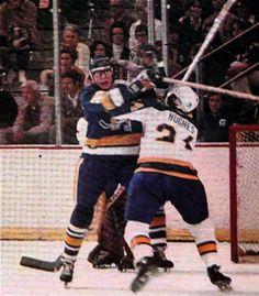 Carlson Brothers Minnesota Fighting Saints Slap Shot, Ice Hockey, Minnesota, Brother, Saints, Baseball Cards, Movies, Canada, Sport