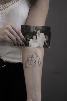 delikatny graficzny tatuaż ze zdjęcia Square Tattoo, Taurus Tattoos, Sister Tattoos, Skin Art, Piercings, Ink, Canvas Material, Tatoos, Instagram Story