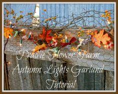 Prairie Flower Farm: Autumn Lights Garland Tutorial