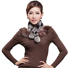 Mingxin real rabbit fur scarf concise slim style shawl warm collar shawl stole >>> Find out more about the great product at the image link.