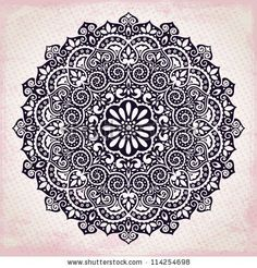 Tatto Ideas 2017 - Purple ornament by Transia Design via Shutterstock...