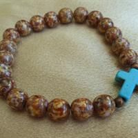 Glass Bead Faith Bracelet from Treasures by Lynn