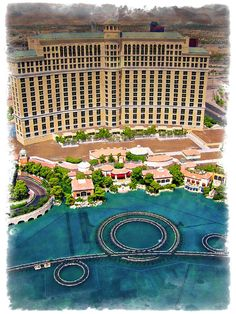 ✯ An aerial view of the Bellagio Hotel and Casino