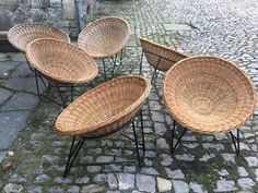 vintage basket chairs 1960  - SEATING - 04 VINTAGE - Davidowski