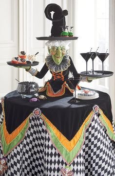 Make the grandest of grand statements, this Halloween, with our spellbindingly sophisticated Witch Tabletop Server at the center of all your frightful affairs.
