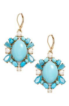 kate spade new york 'azure allure' crystal drop earrings available at #Nordstrom