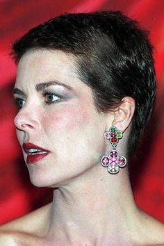 Princess Caroline of Monaco wearing JAR earrings around the - Jewels by JAR Jar Jewelry, Royal Jewelry, Jewellery, Princesa Alexandra, Philippe Junot, Ernst August, Van Cleef And Arpels Jewelry, Princess Grace Kelly, Monaco Royal Family